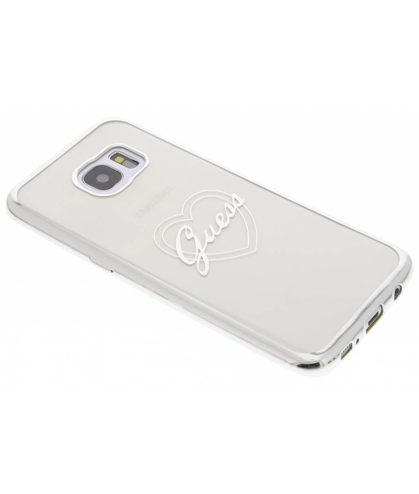 Guess Signature Heart TPU Case Samsung Galaxy S7 Edge - Zilver