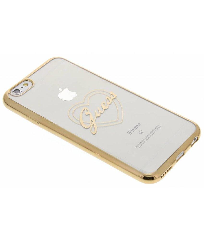 Guess Signature Heart TPU Case iPhone 6 / 6s - Goud