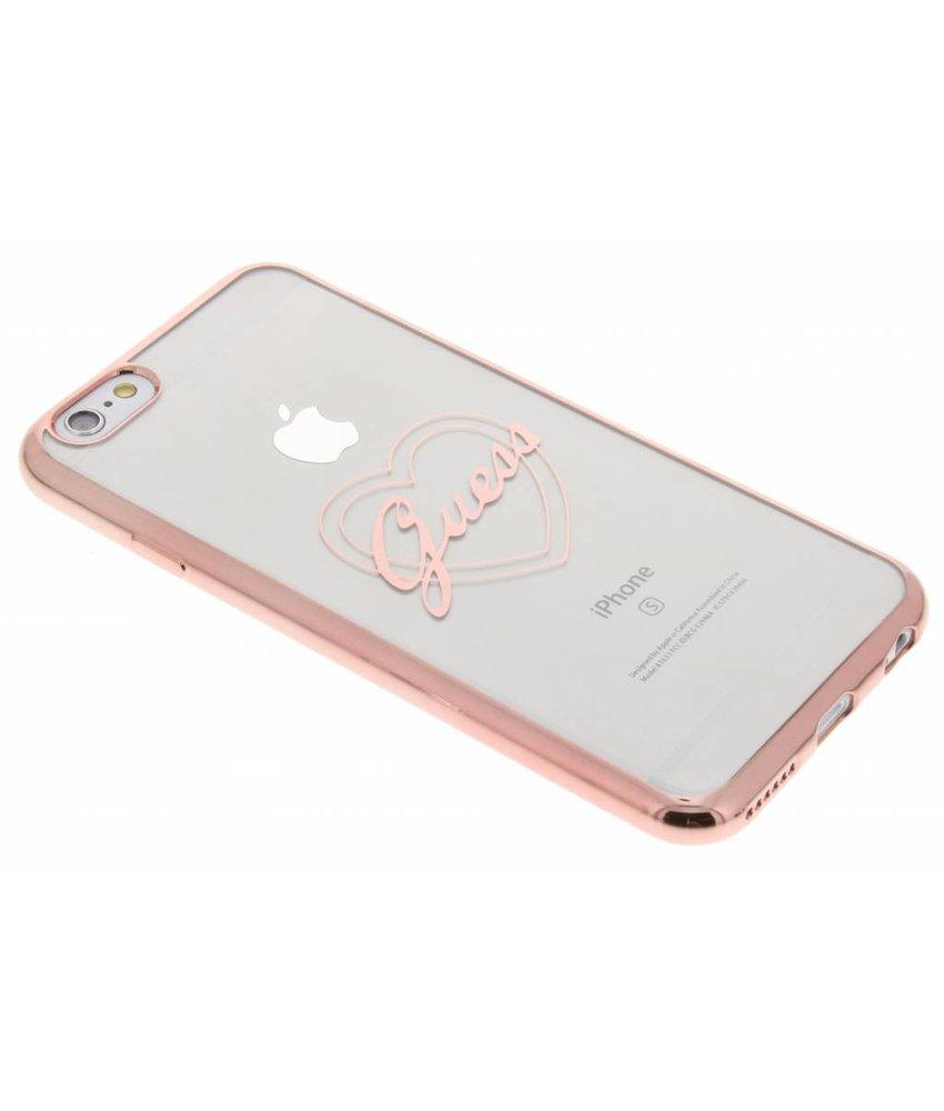 Guess Signature Heart TPU Case iPhone 6 / 6s - Rosé goud