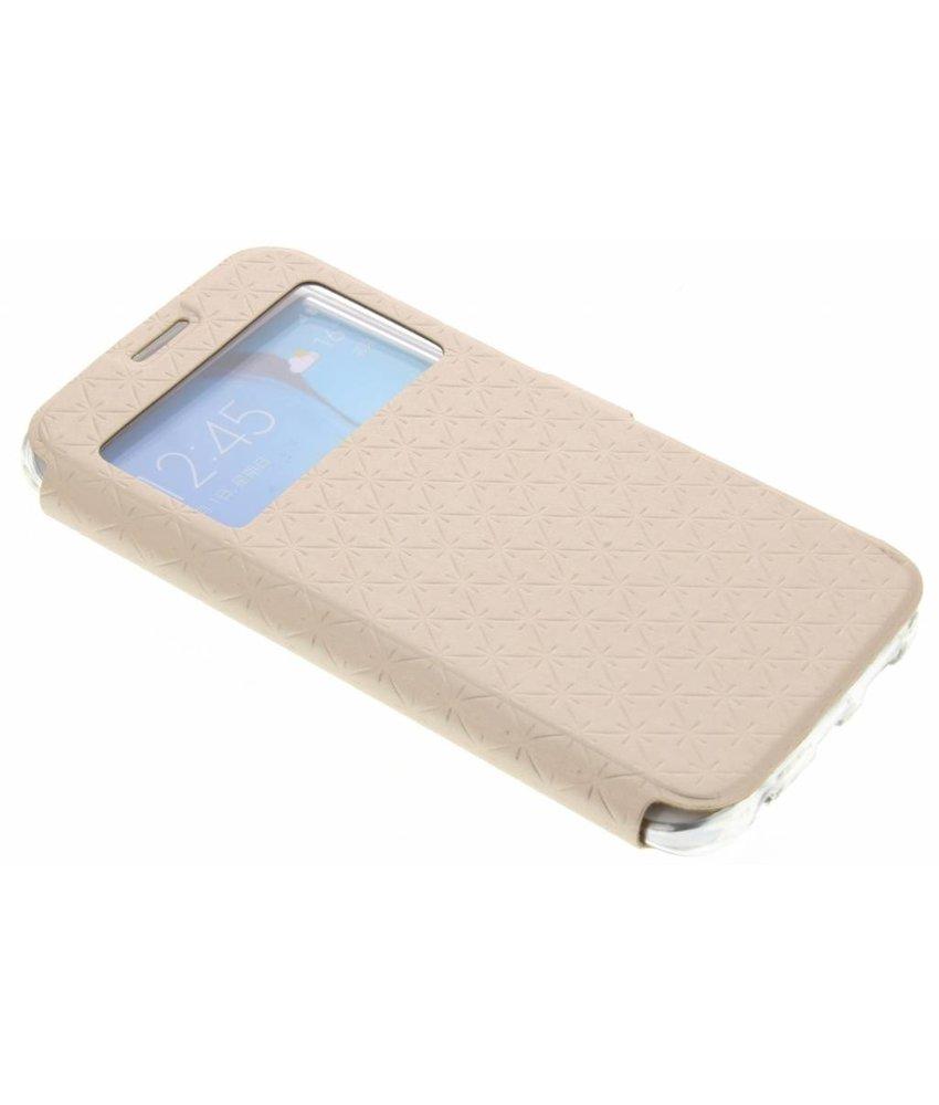 Goud Rhombus hoesje Samsung Galaxy S6 Edge