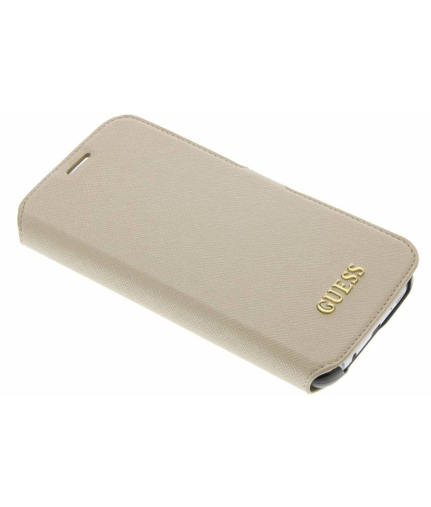 Guess Saffiano Collection Book Case Samsung Galaxy S7 Edge - Goud
