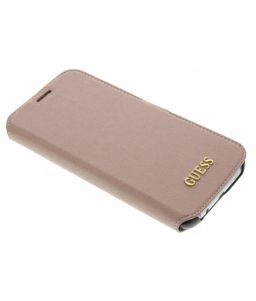 Guess Saffiano Collection Book Case Samsung Galaxy S7 Edge - Rosé