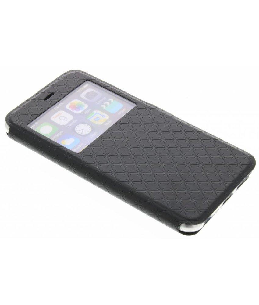 Zwart Rhombus hoesje iPhone 6(s) Plus
