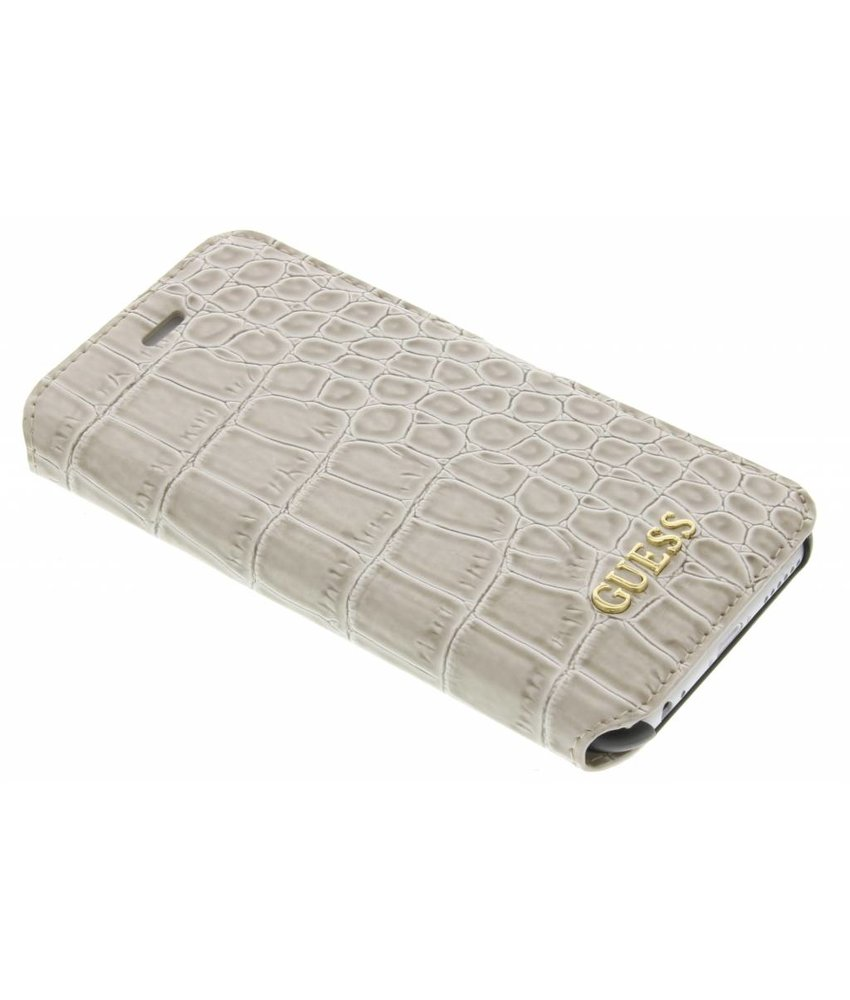 Guess Shiny Croco Book Case iPhone 6 / 6s - Beige