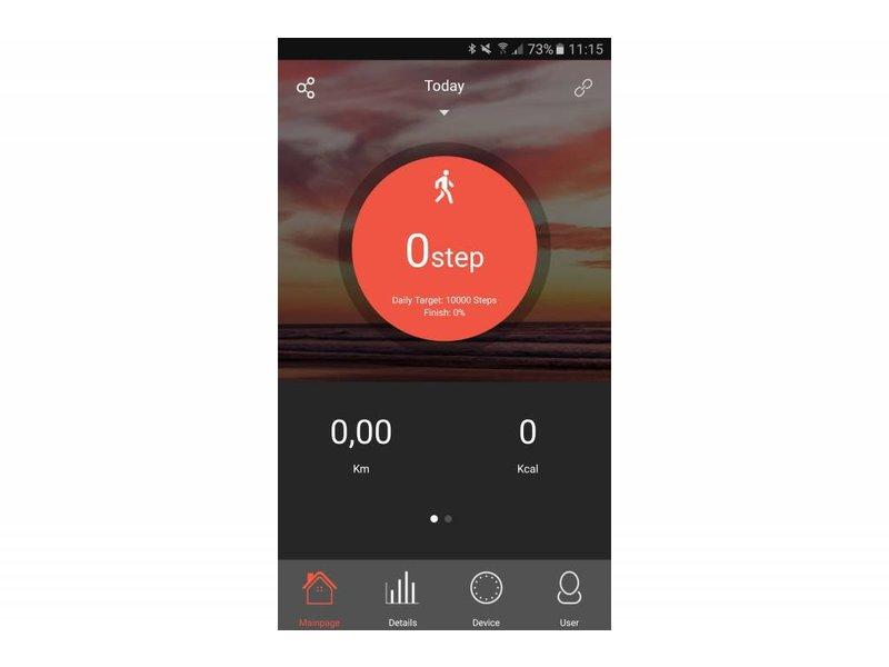 VeryFit 2.0 Smart Band Health & Heart Tracker - Zwart
