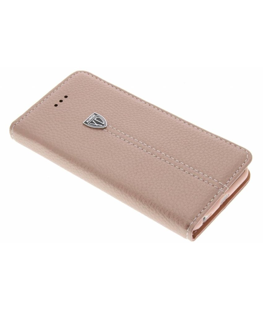 Roze premium TPU booktype hoes iPhone 6 / 6s
