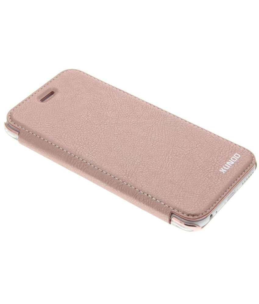 Roze crystal slim book case iPhone 6 / 6s