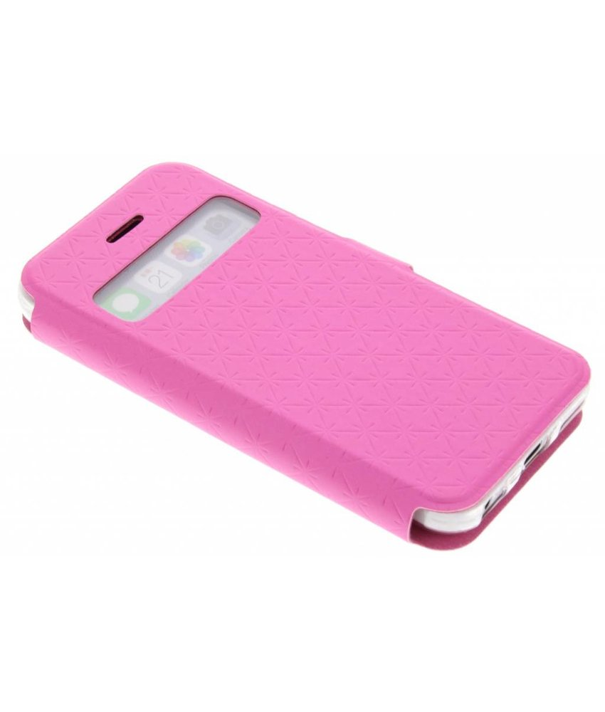 Roze Rhombus hoesje iPhone 5c