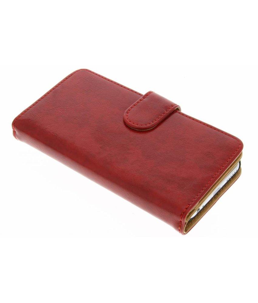 Rood 11-vaks wallet case iPhone 5 / 5s / SE