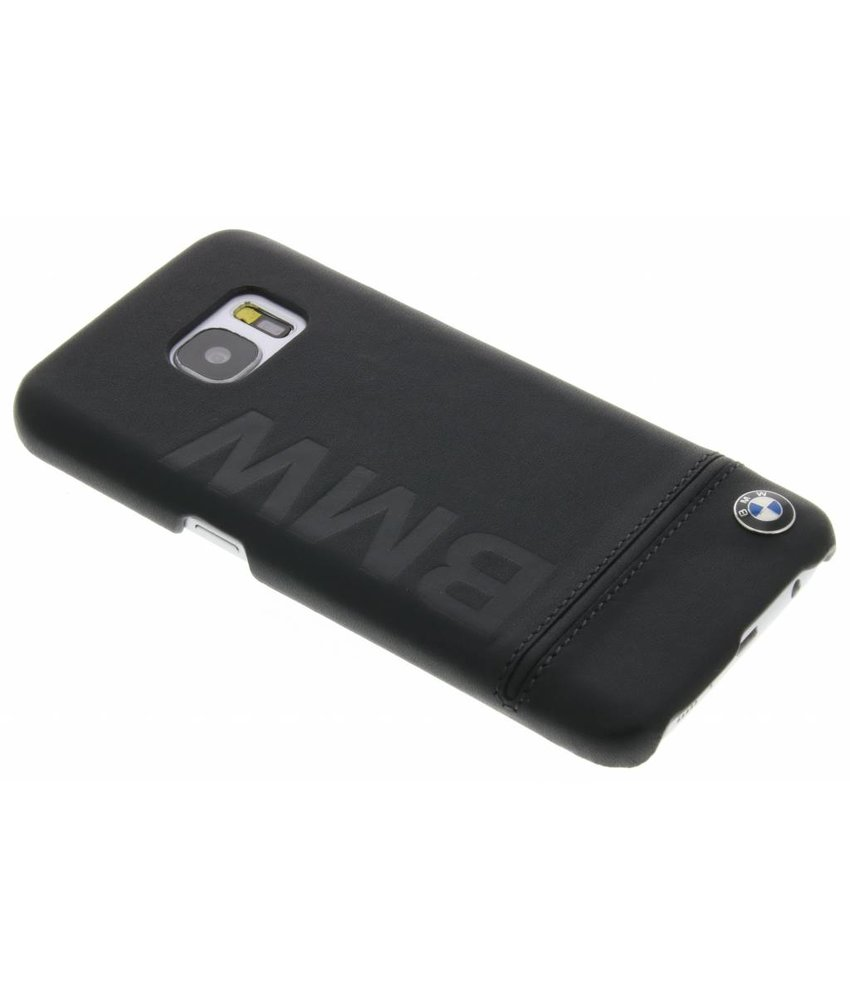 BMW Real Leather Hard Case Samsung Galaxy S7 - Zwart