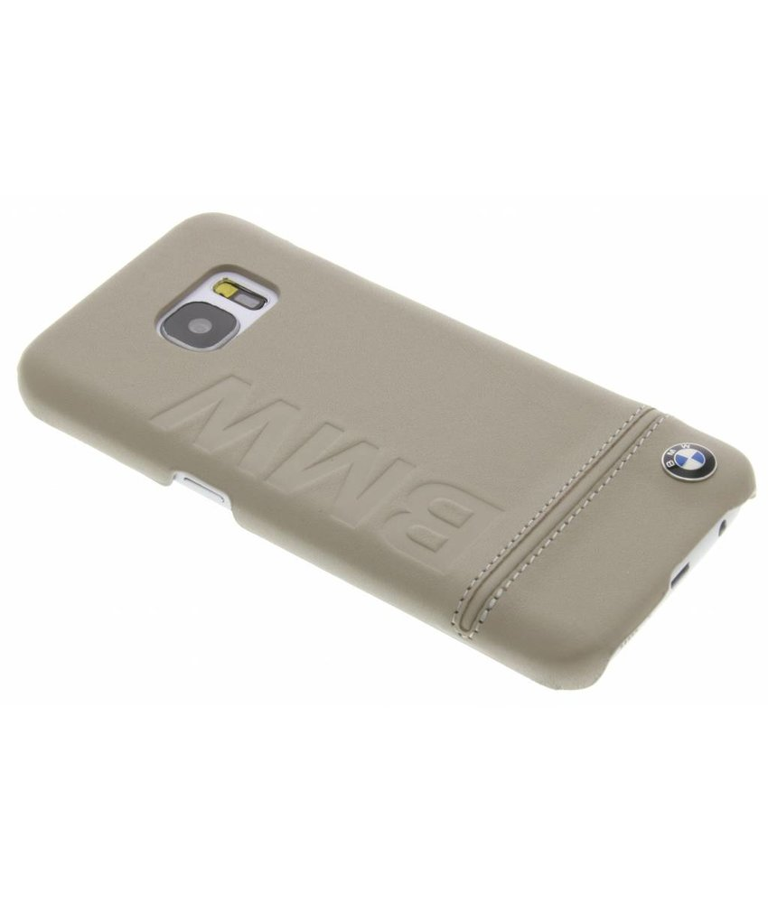 BMW Real Leather Hard Case Samsung Galaxy S7 - Taupe