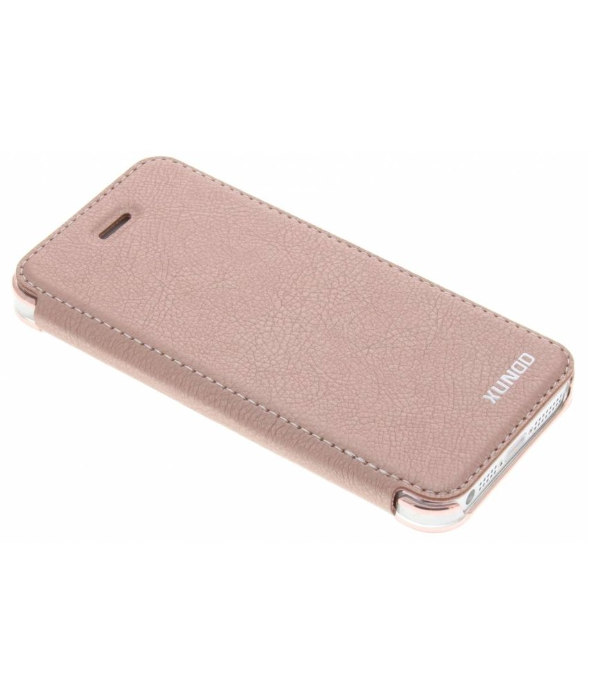 Roze crystal slim book case iPhone 5 / 5s / SE