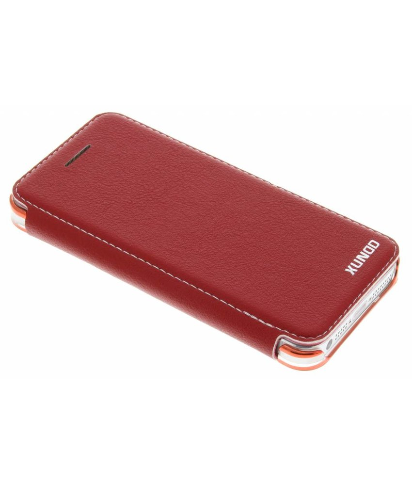 Rood crystal slim book case iPhone 5 / 5s / SE
