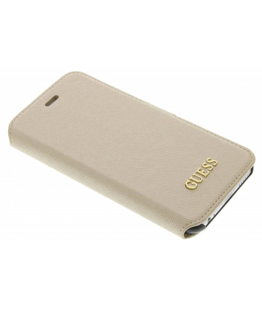 Guess Saffiano Collection Book Case iPhone 6 / 6s - Goud