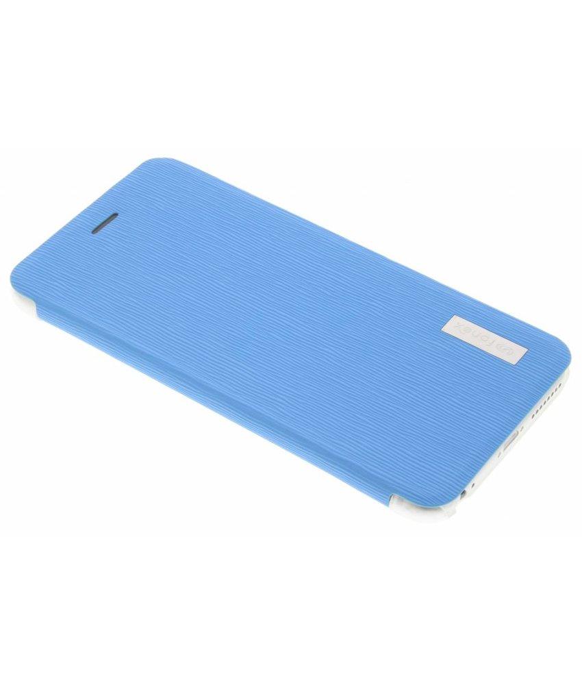 Fonex Crystal Slim Book Case iPhone 6(s) Plus - Lichtblauw