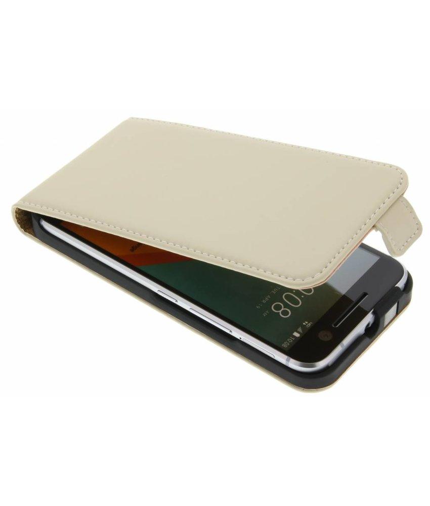 Selencia Luxe Flipcase HTC 10 - Gebroken wit