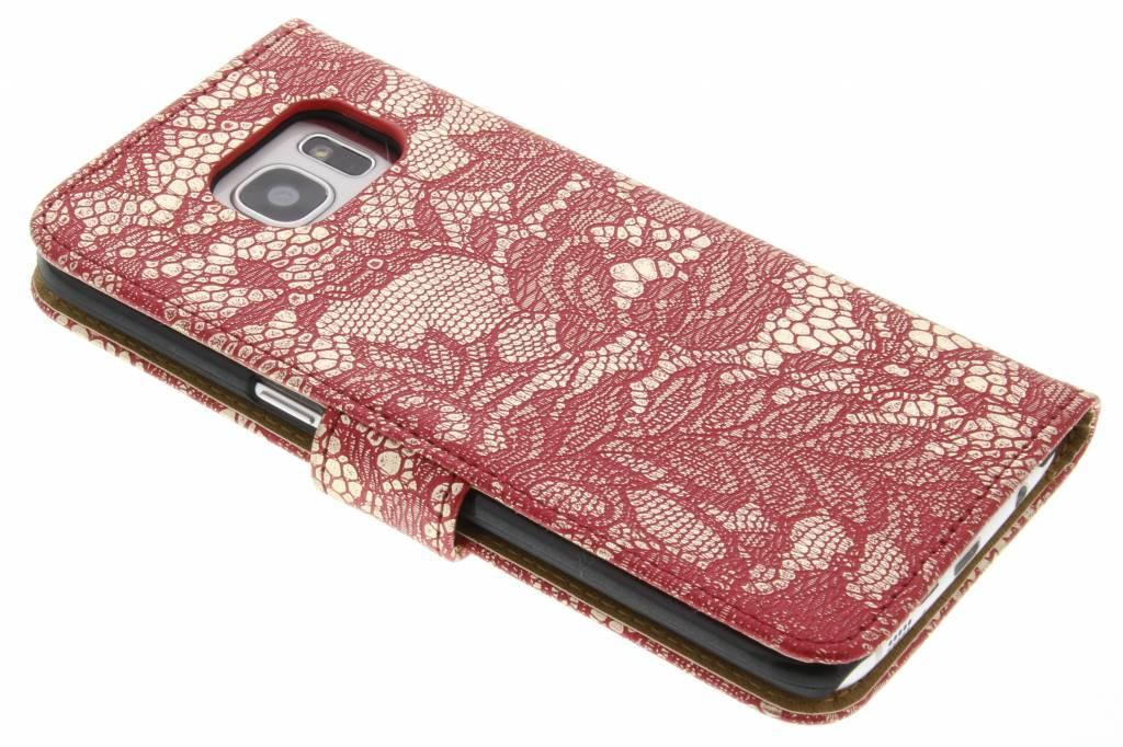 Type De Livre Rouge Kreukelleder Cas Pour Bord De Samsung Galaxy S cHfev68Qf