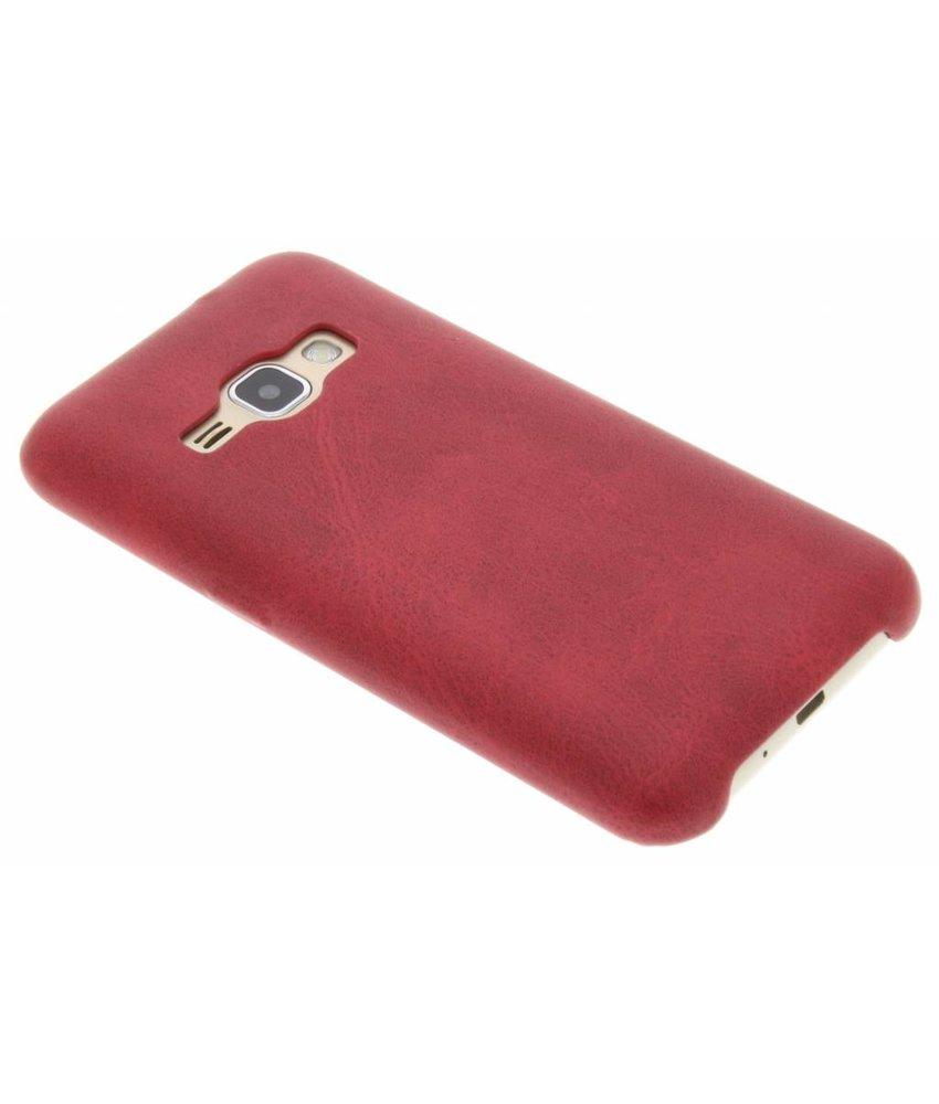 Rood TPU Leather Case Samsung Galaxy J1 (2016)