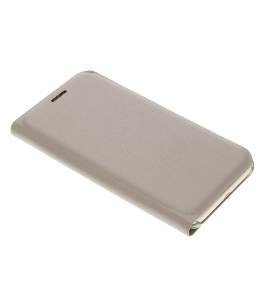 Goud luxe slim booktype hoes Samsung Galaxy J1 (2016)