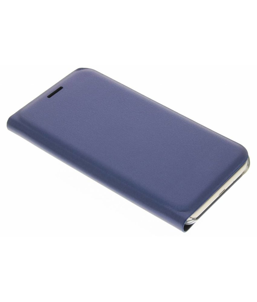 Donkerblauw luxe slim booktype hoes Samsung Galaxy J1 (2016)