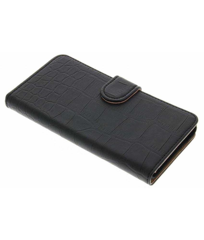 Zwart krokodil booktype hoes OnePlus X