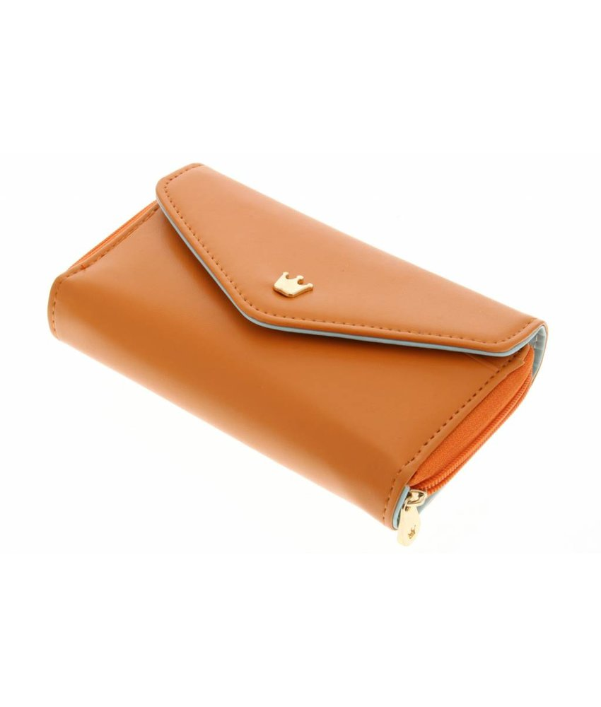 Oranje universele kroon wallet