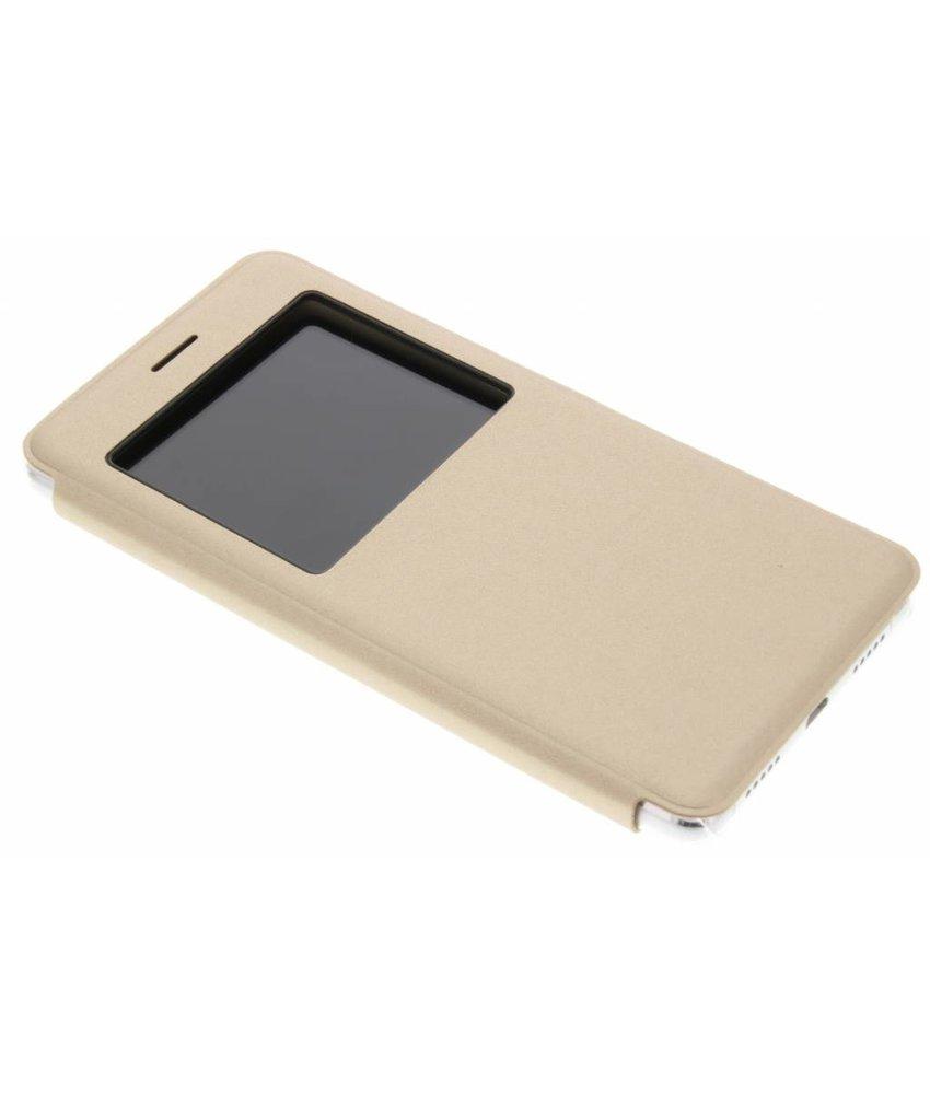 Transparant slim booktype met venster Huawei P9 Lite