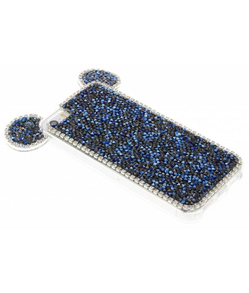 Donkerblauw blingmuis TPU hoesje iPhone 5 / 5s / SE