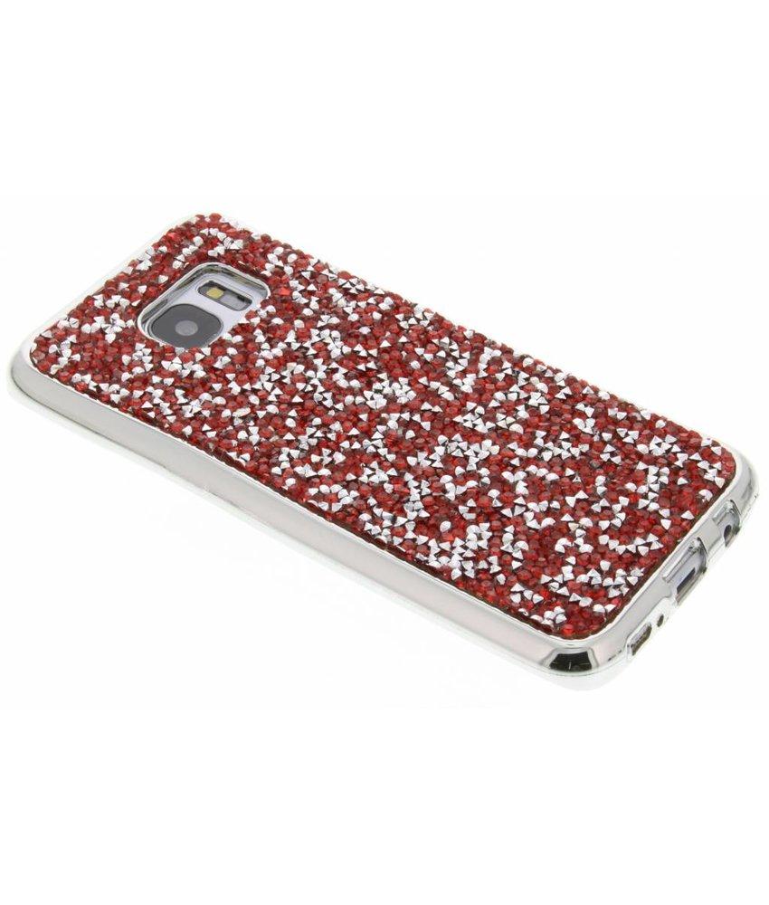 Rood blingbling TPU hoesje Samsung Galaxy S7 Edge