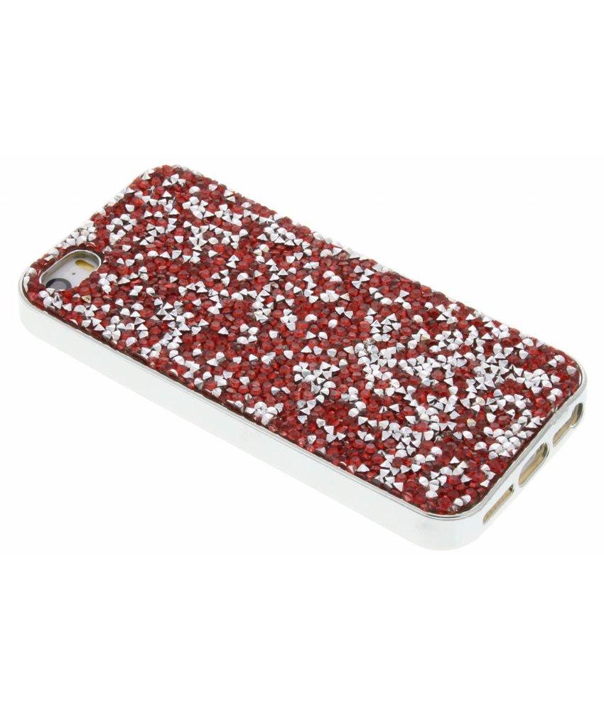 Rood blingbling TPU hoesje iPhone 5 / 5s / SE