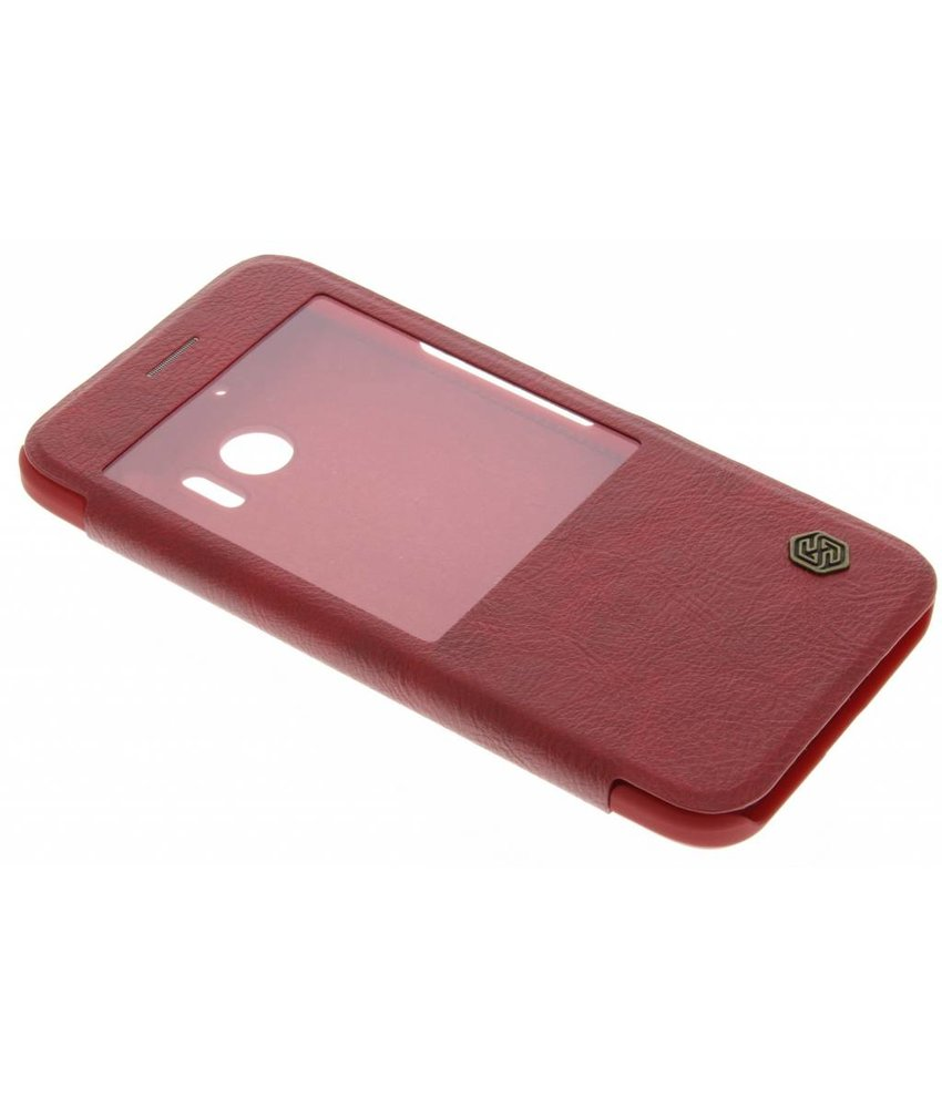 Nillkin Leather Case met venster HTC 10