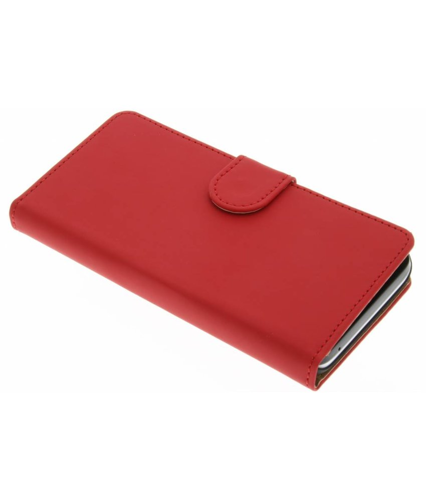 Rood effen booktype hoes Huawei Y5