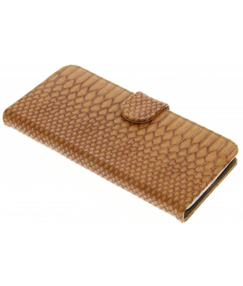 Bruin slangen booktype hoes LG G5 (SE)