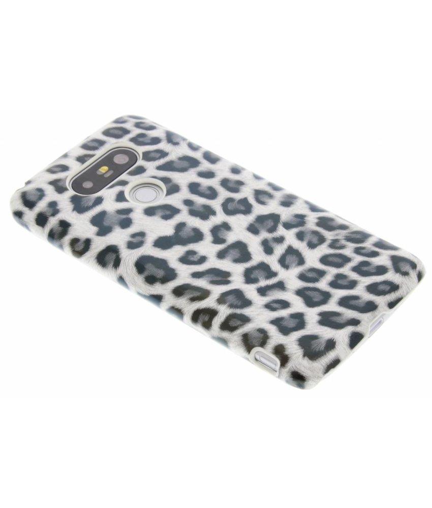 Grijs luipaard design hardcase hoesje LG G5 (SE)