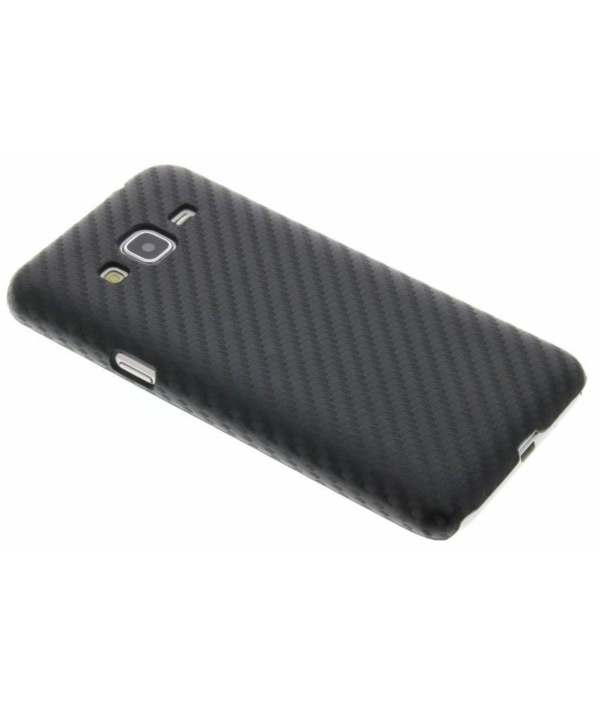Zwart carbon look hardcase hoesje Samsung Galaxy J3 / J3 (2016)