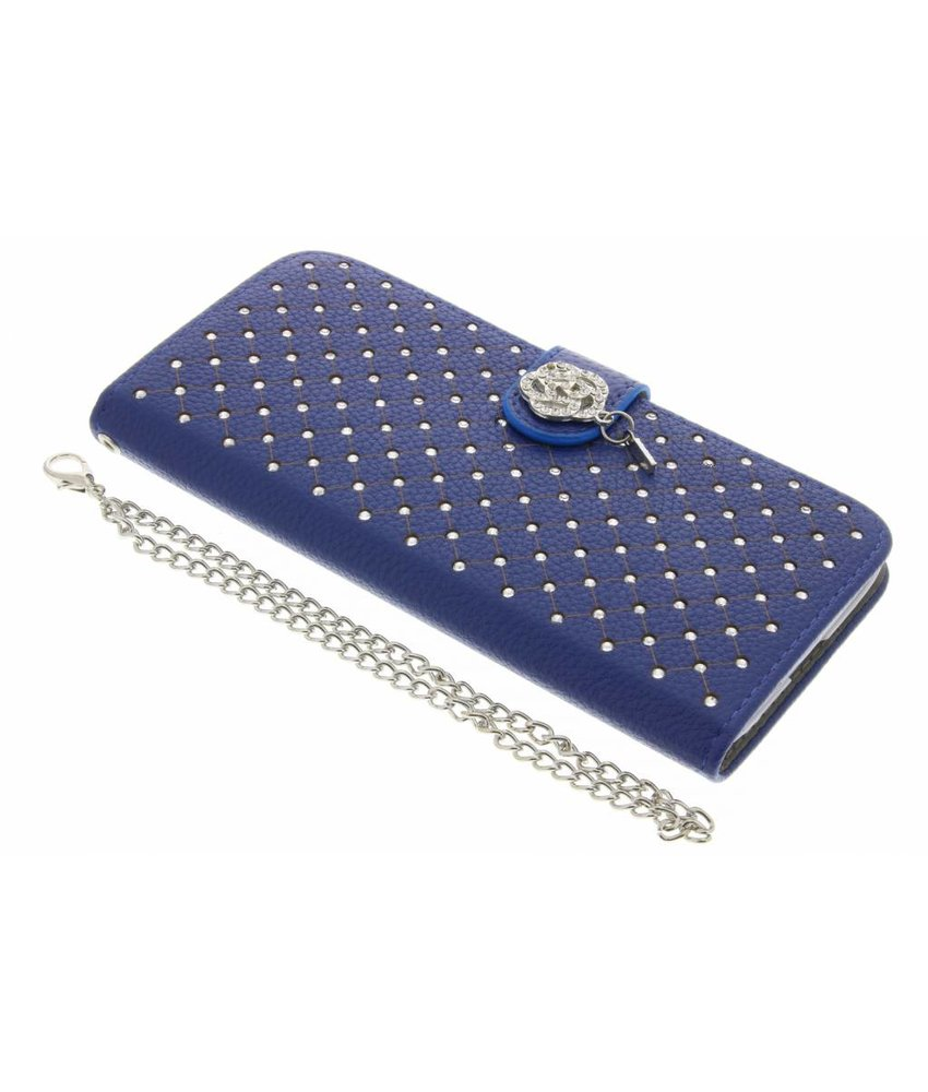 Blauw chique strass booktype hoes LG G5 (SE)