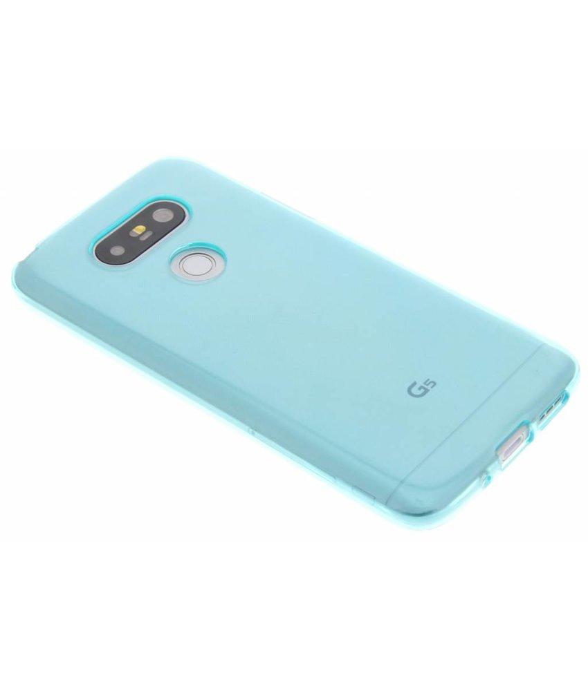 Turquoise transparant gel case LLG G5 (SE)