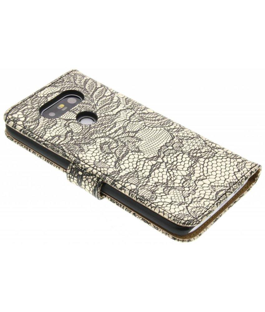 Zwart glamour design booktype hoes LG G5 (SE)