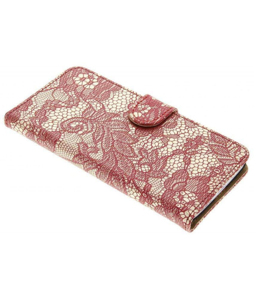 Rood glamour design booktype hoes LG G5 (SE)