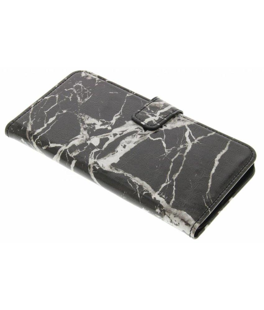 Zwart marmer booktype hoes LG G5 (SE)