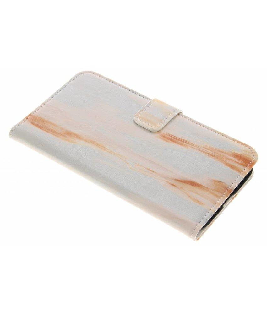 Oranje marmer booktype hoes LG G5 (SE)