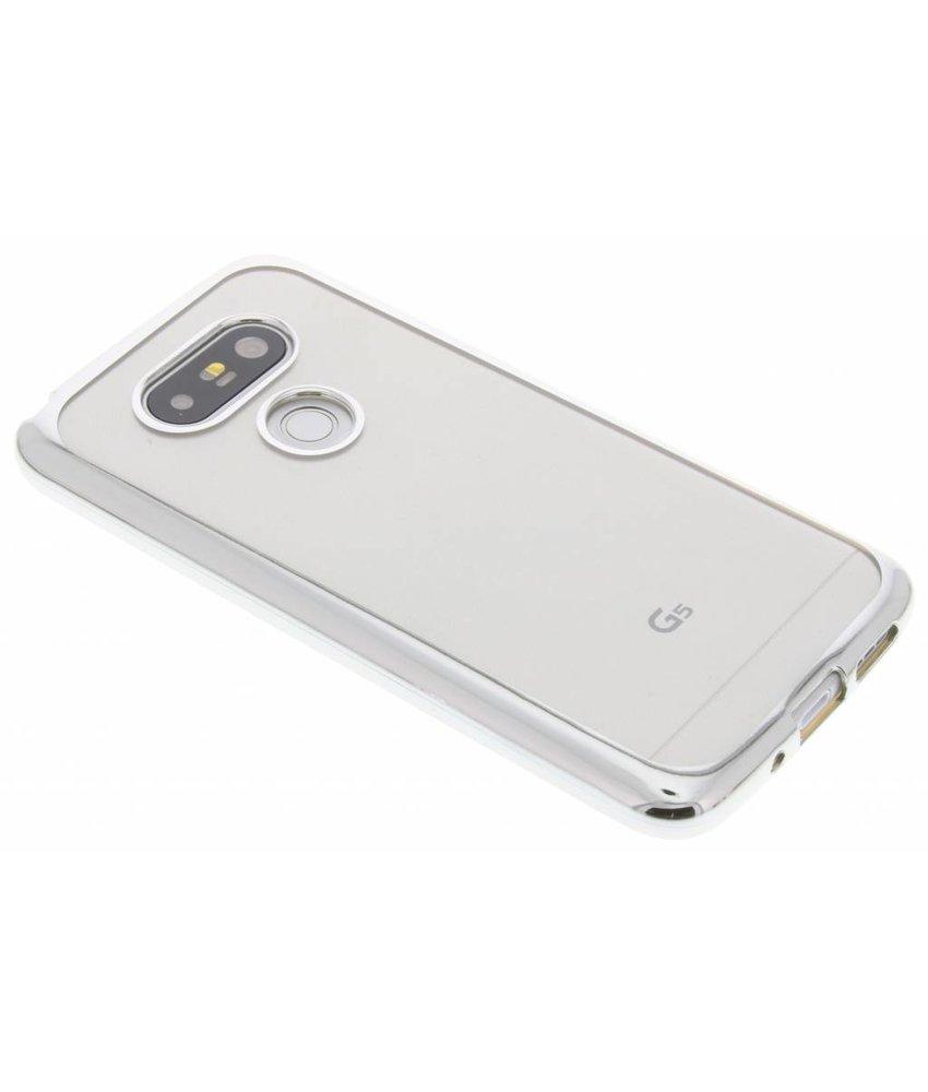 Zilver TPU hoesje met metallic rand LG G5 (SE)