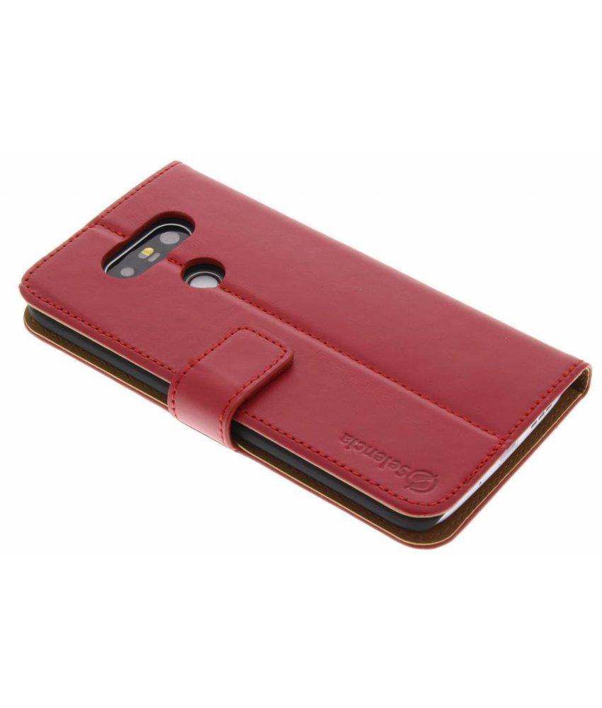 Selencia Luxe Lederen Booktype LG G5 (SE) - Rood