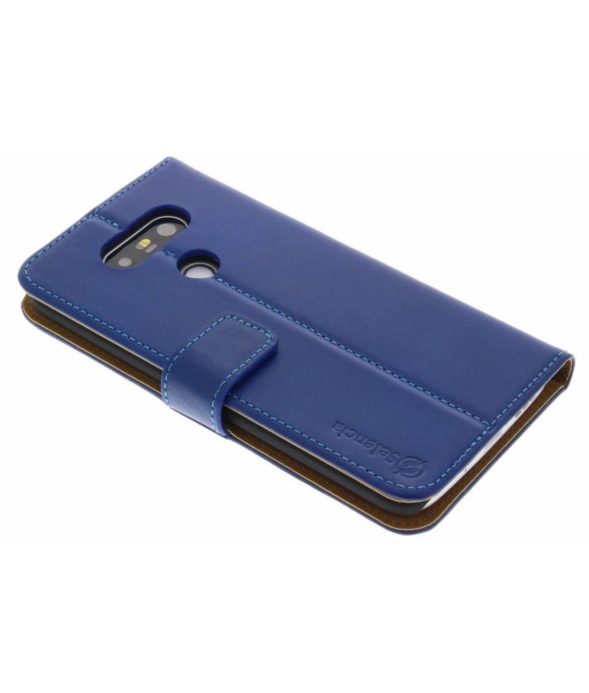 Selencia Luxe Lederen Booktype LG G5 (SE) - Blauw