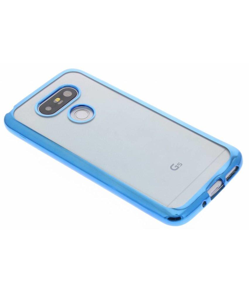 Blauw TPU hoesje met metallic rand LG G5 (SE)