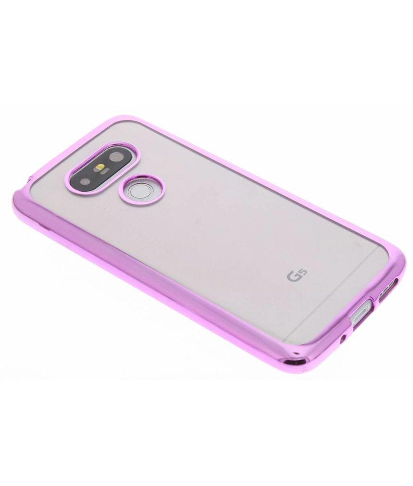 Roze TPU hoesje met metallic rand LG G5 (SE)