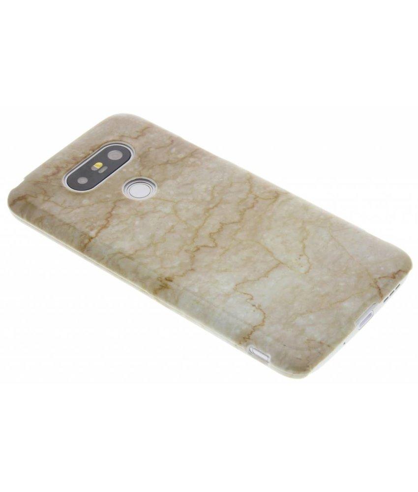 Beige marmer hardcase hoesje LG G5 (SE)