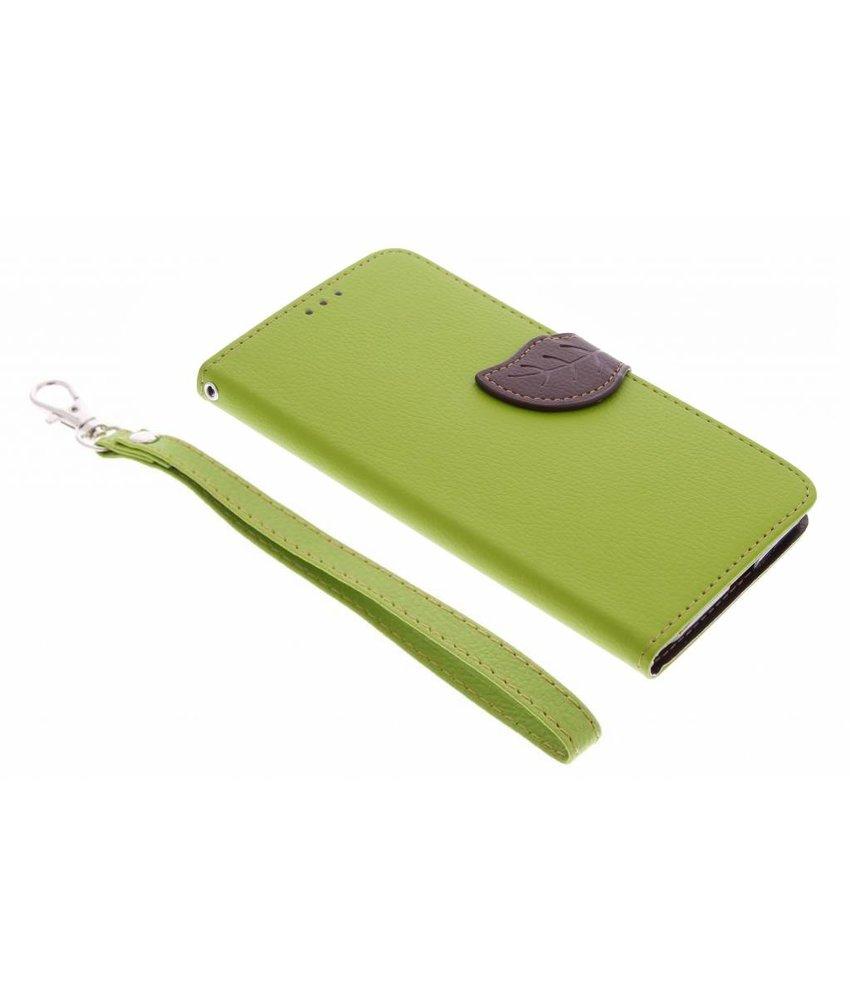 Groen blad design booktype hoes Huawei Nexus 6P