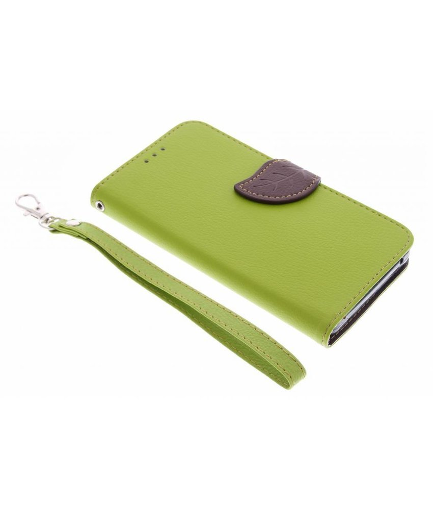 Groen blad design TPU booktype hoes Acer Liquid Z520