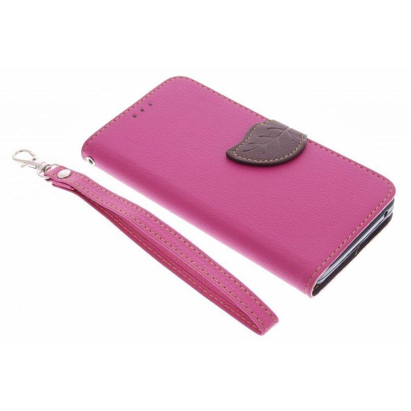 Fuchsia Feuille Conception Booktype Tpu Case Pour Acer Liquid Z520 1oDf6a